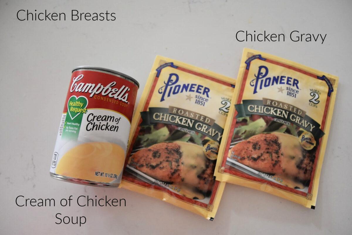 can of cream of chicken and chicken gravy