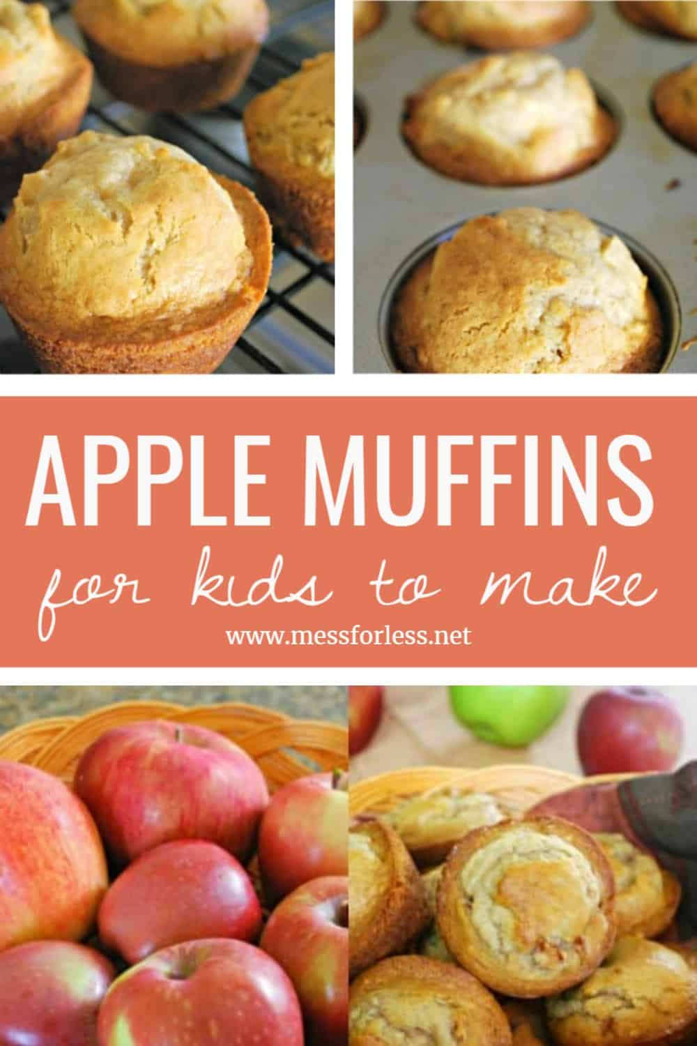 Easy apple muffins recipe. These moist, perfectly spiced apple muffins are quick to come together and are bursting with fresh apple flavor.